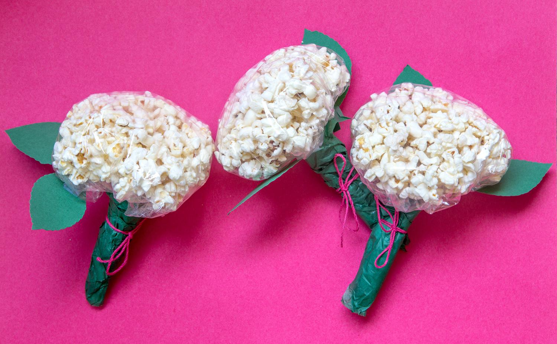 DIY hortensior av popcorn vackraste snackset