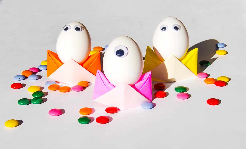 DIY origami äggkoppar till påsk