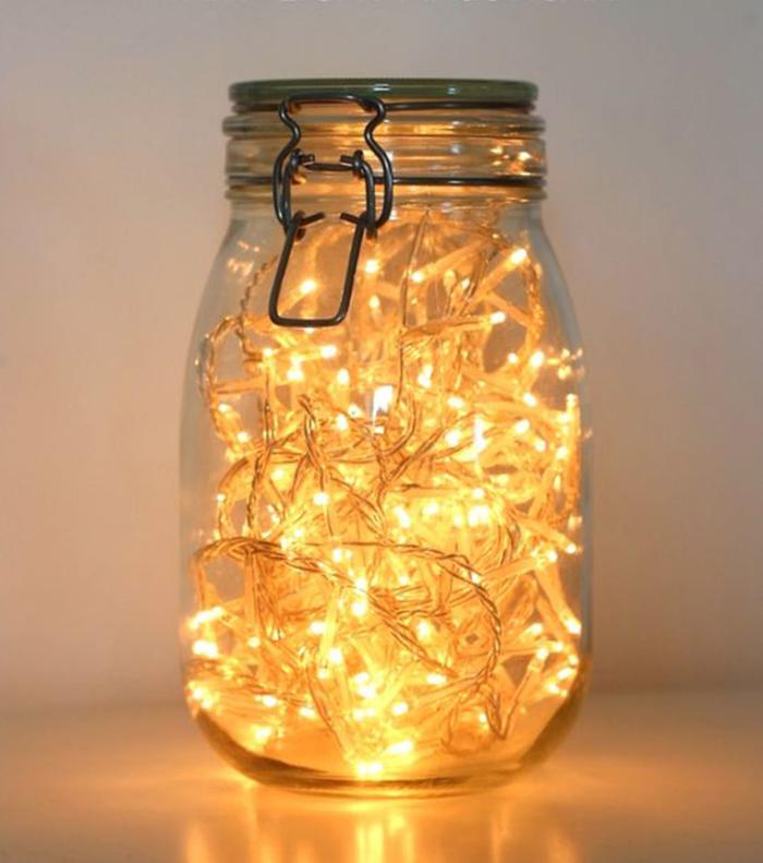 5 bästa IKEA hacksen till vinterbröllopet burkar med LED slingor i