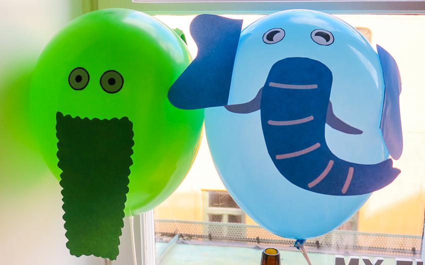 djur-ballonger