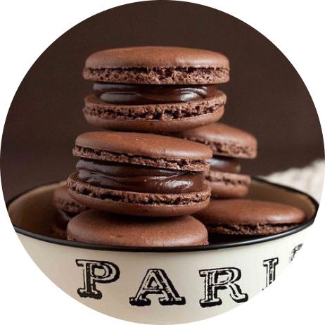 choklad macaroons
