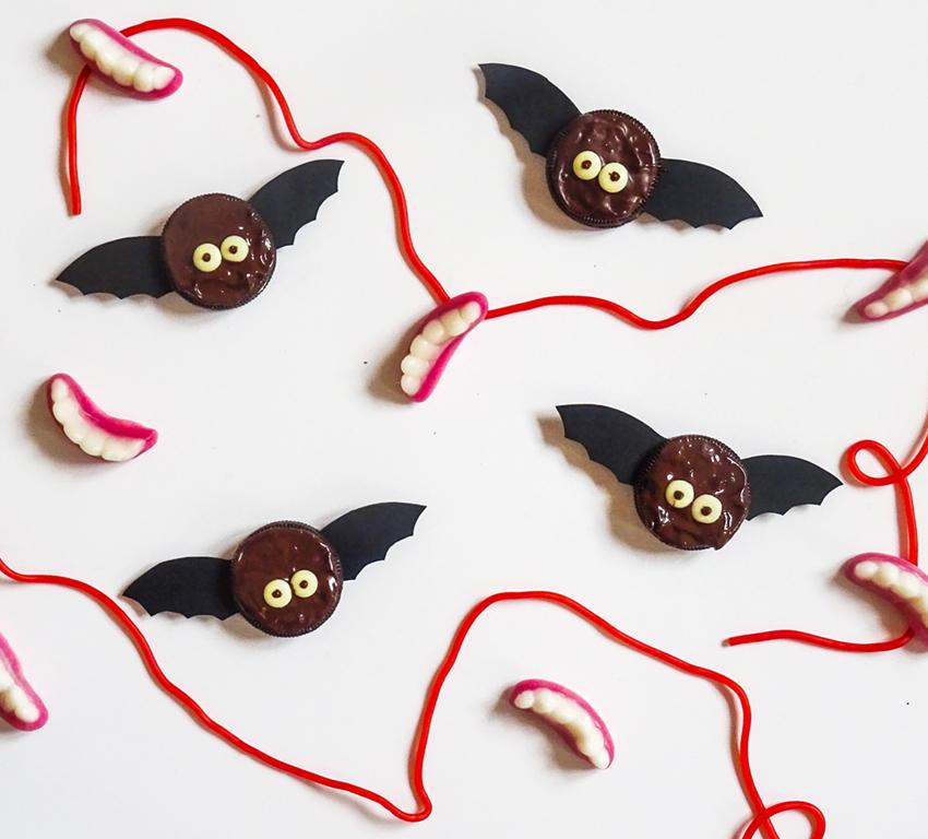 kakfladdermöss till Halloween
