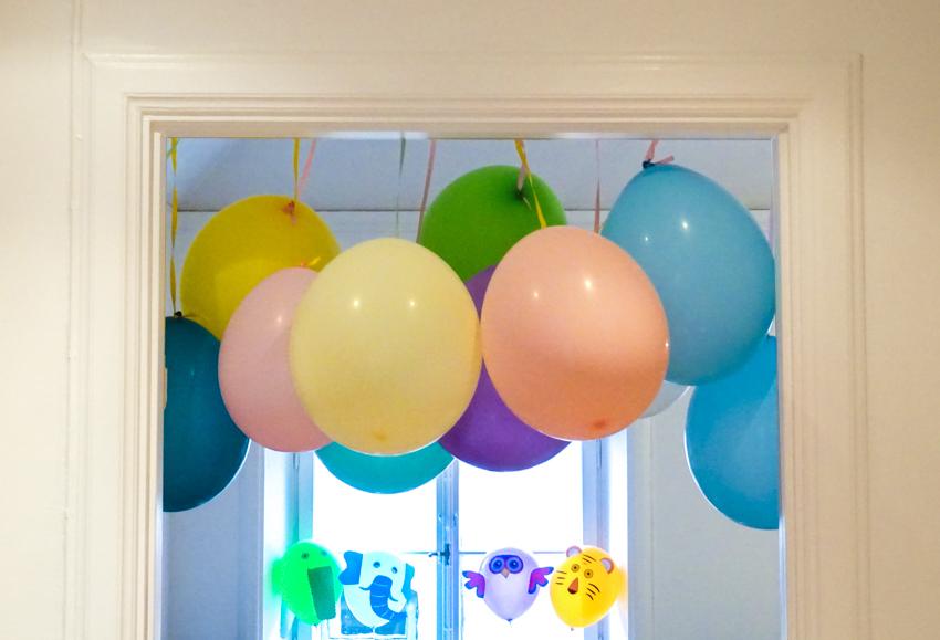 ballong girlang dörröppning