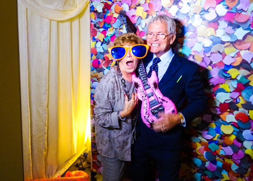 photo booth på engelskt bröllop i Surrey
