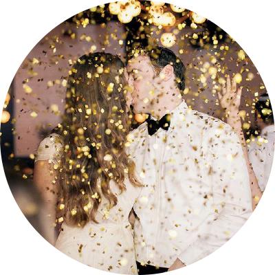 glitter att kasta på bröllop