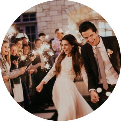 tomtebloss på bröllop