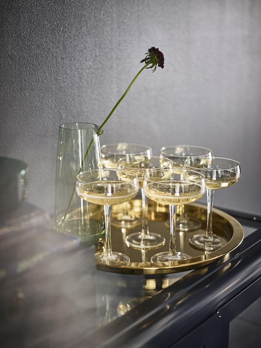 IKEA champagnecoupe Storhet