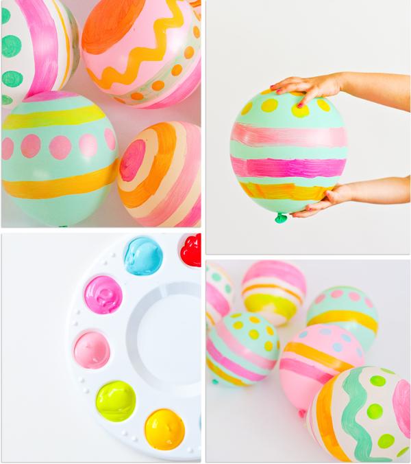 påsk målade ballonger