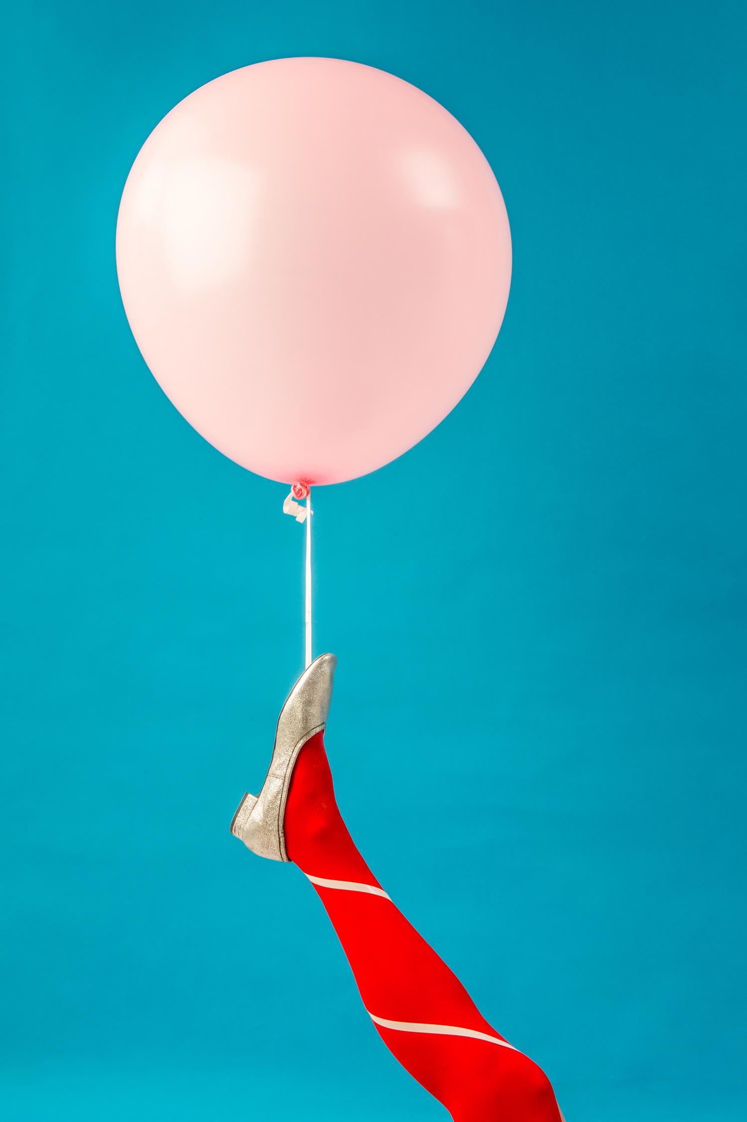 rosa jätteballong