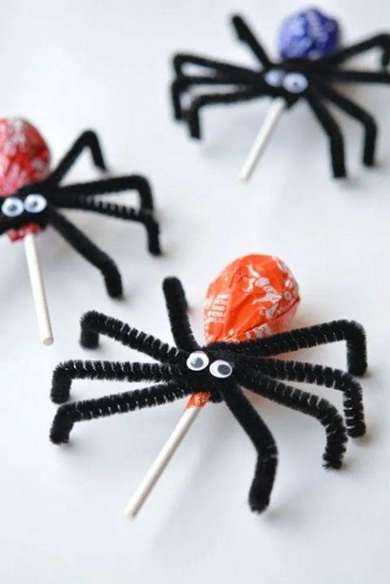Spindelklubbor till Halloween