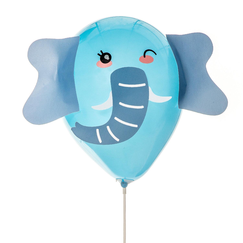 DIY-kit med djurballonger med blå elefant ballong