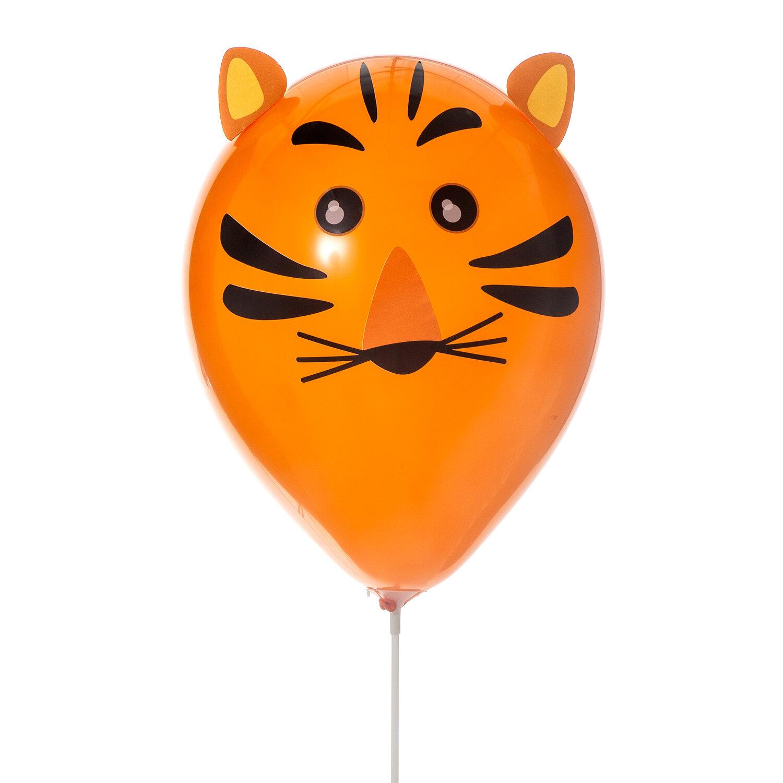 DIY-kit med djurballonger med orange tiger ballong
