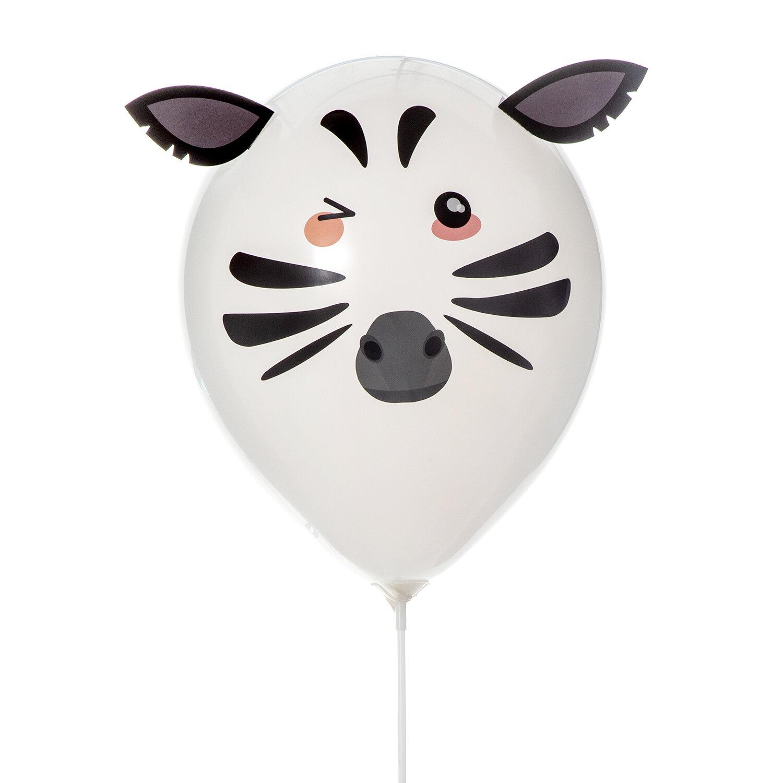 DIY-kit med djurballonger med vit svart zebra ballong