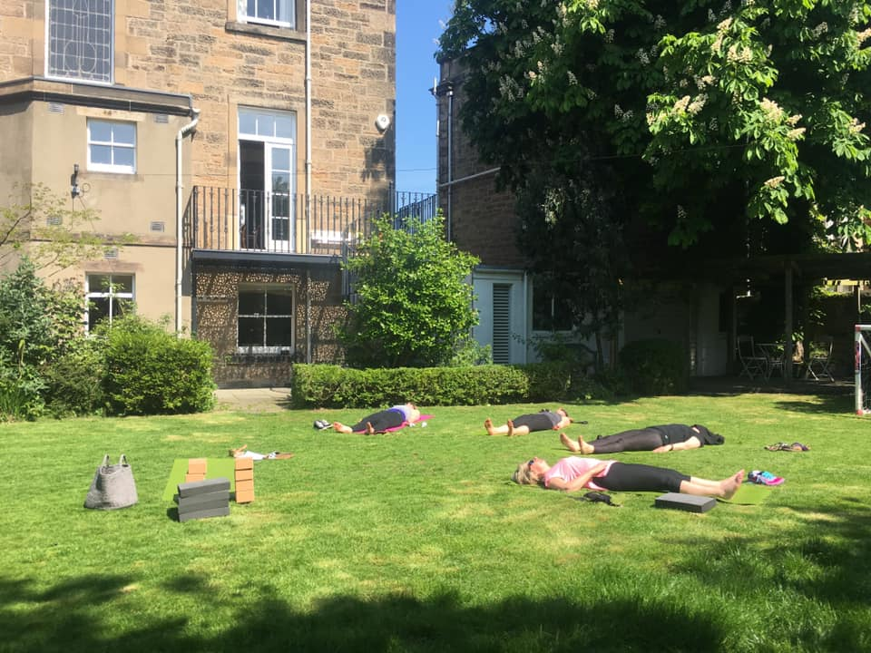 An adult class in the sunshine, summer 2019