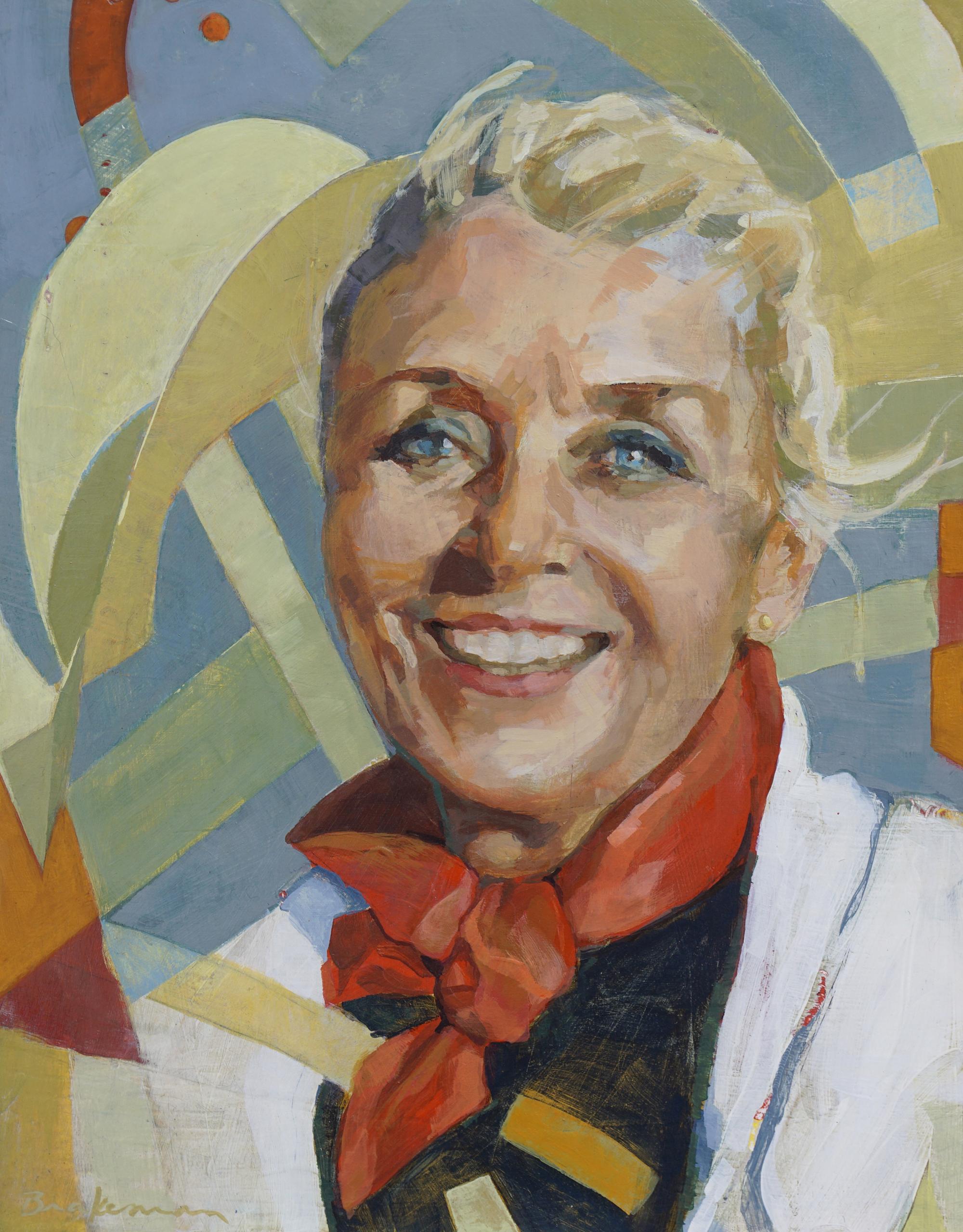 "Amy Brakeman Livezey: Custom Portrait.  Amy has donated a custom 14""x11"" portrait of one person. Pictured: custom portrait of Maryjane Davidson. est. Value: $700"