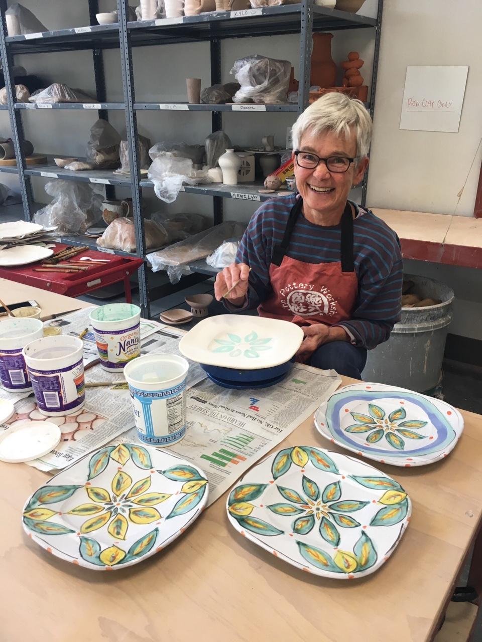 Sarah Jaeger: Set of 8 plates