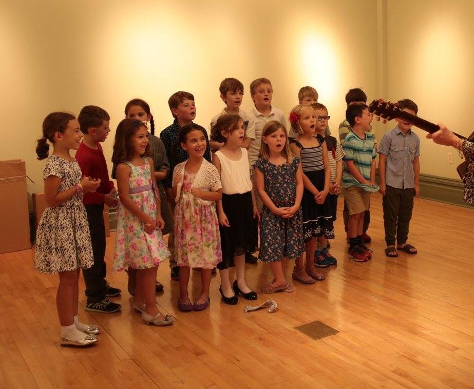 Petoskey Montessori Children's House school music class practicing an original class composition