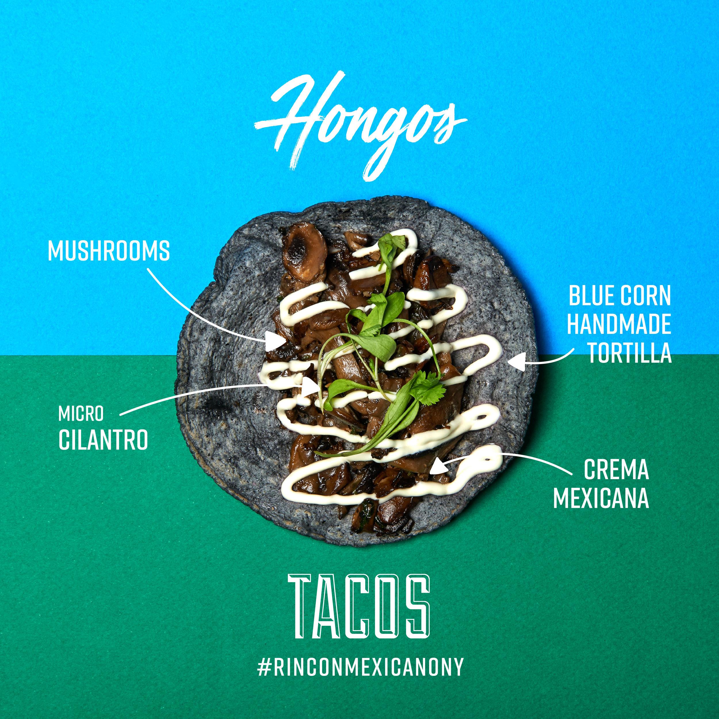 Tacos Hongos Rincon Mexicano