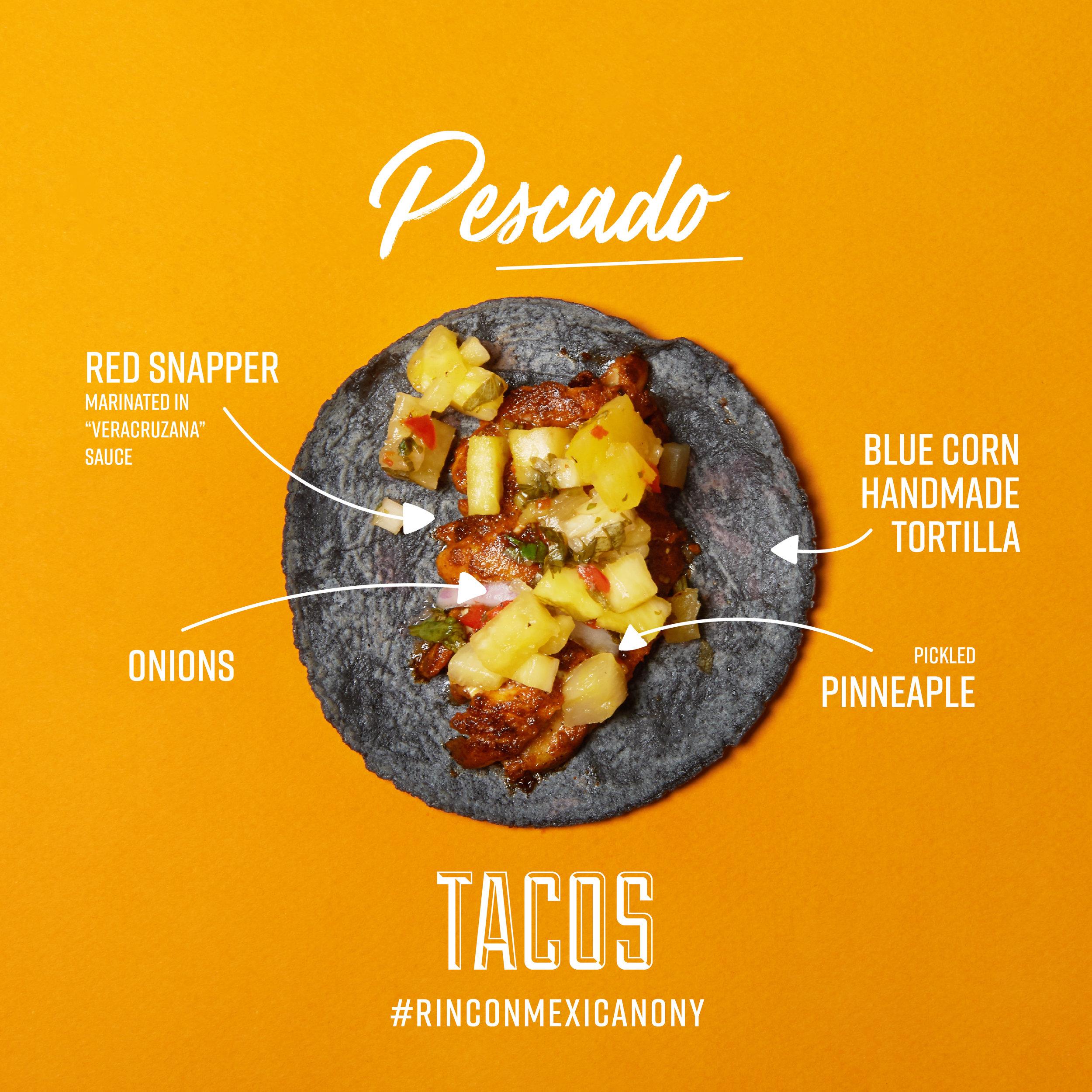 Tacos Pescado Rincon Mexicano New York