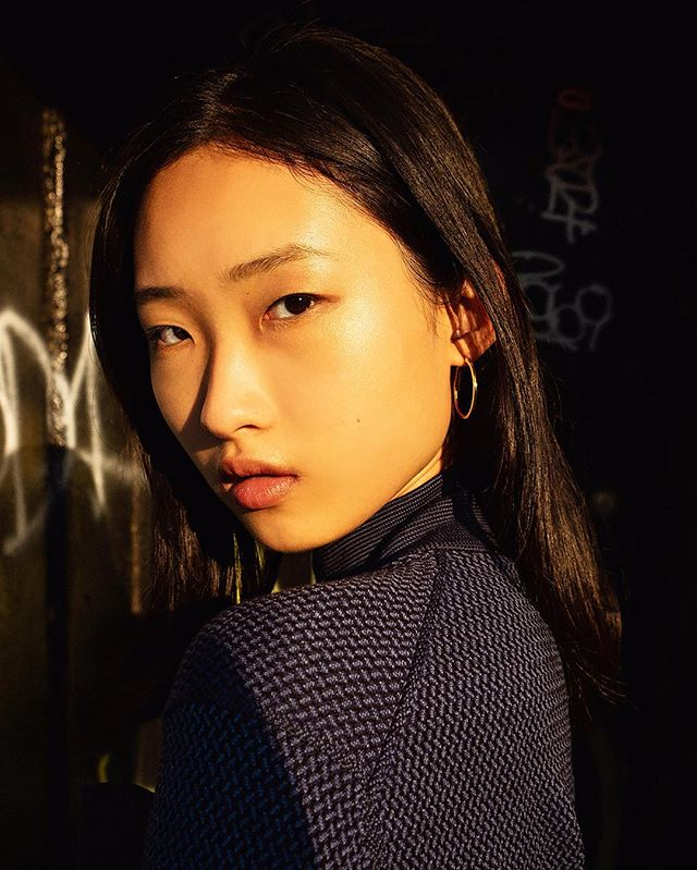 @chuyan_he from @thesocietynyc / styled by @monsieur_wyzard / makeup by @miki_ishikura