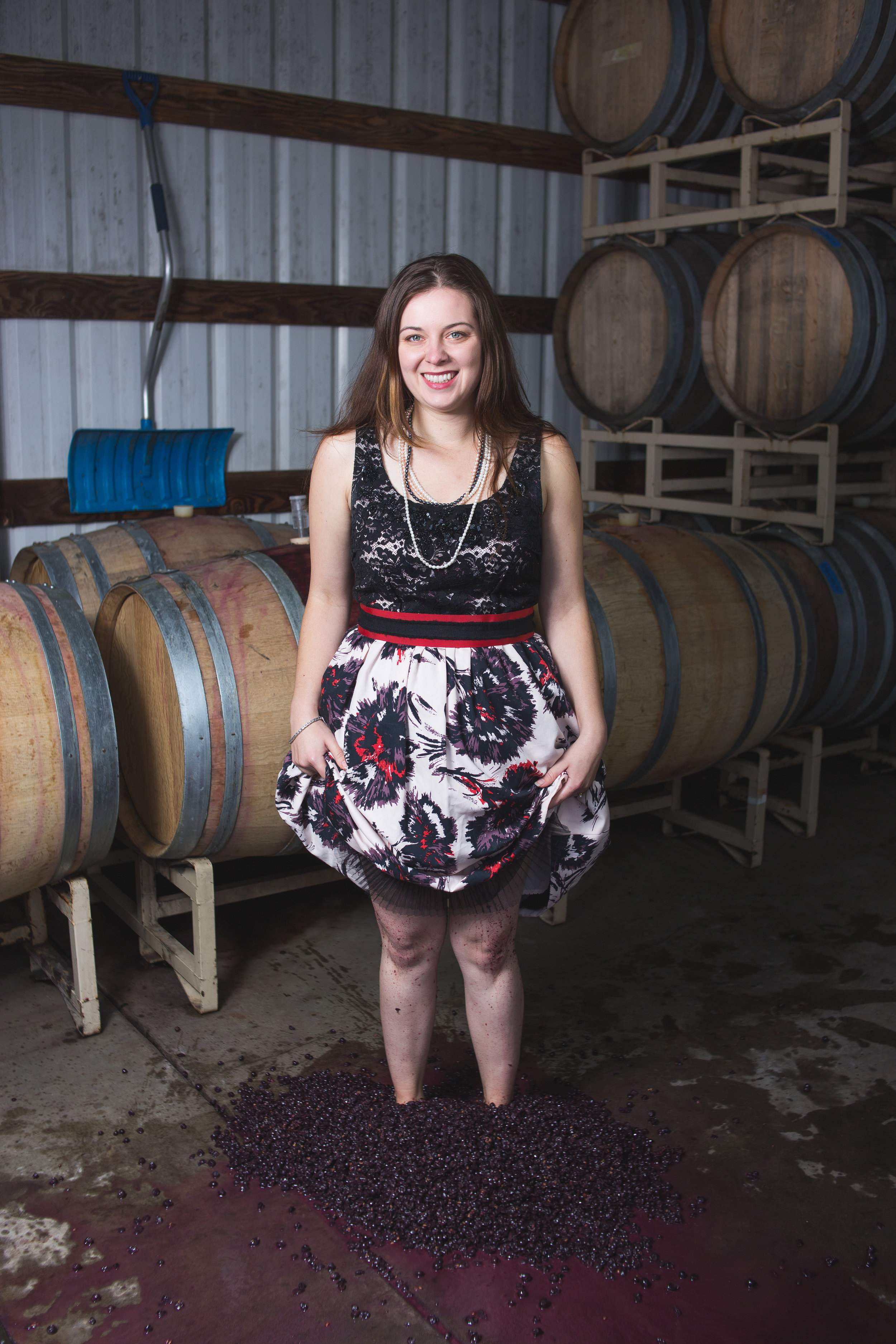 """Justina Harris -   Direct Sales Manager   Justina moved here from Idaho and deeply resents all of the potato and, """"You da ho!"""" jokes. While in Idaho, she spent 4 years doing a little bit of everything in the industry, from managing the tasting room to running labs and working harvest. But her first love was Oregon Pinot Noir and she is thrilled to have finally made her way back to it. See her in our tasting room and you'll get why we hired her. An absolute firecracker, Justina is a great addition to our PVV team."""