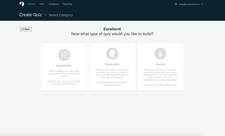 Build Design Quiz Interact