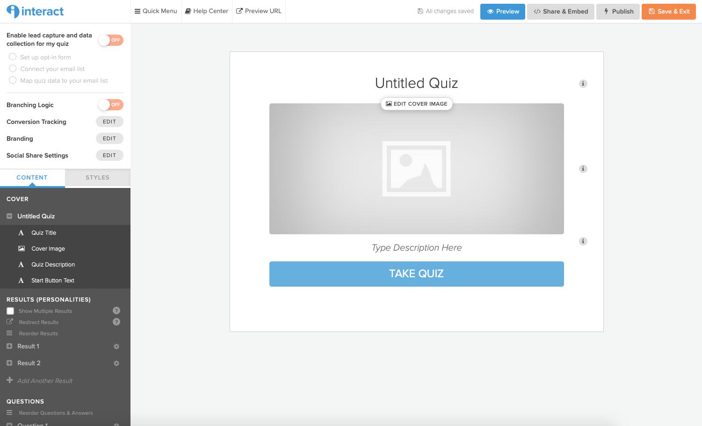 Build Quiz Content Upgrade