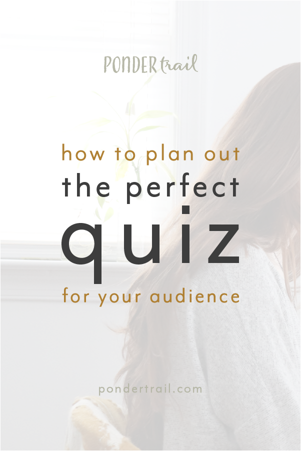 Plan Your First Quiz for Audience