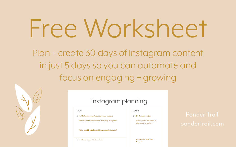 plan create 30 days of instagram content