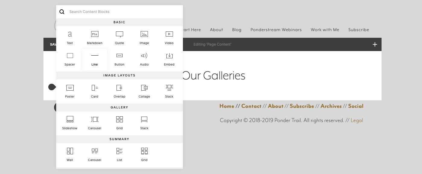 best Squarespace tips for galleries