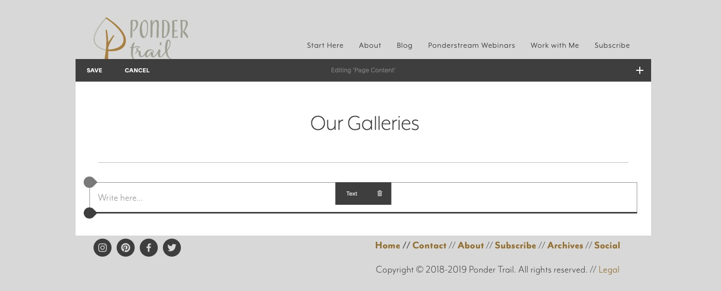 create a gallery in Squarespace