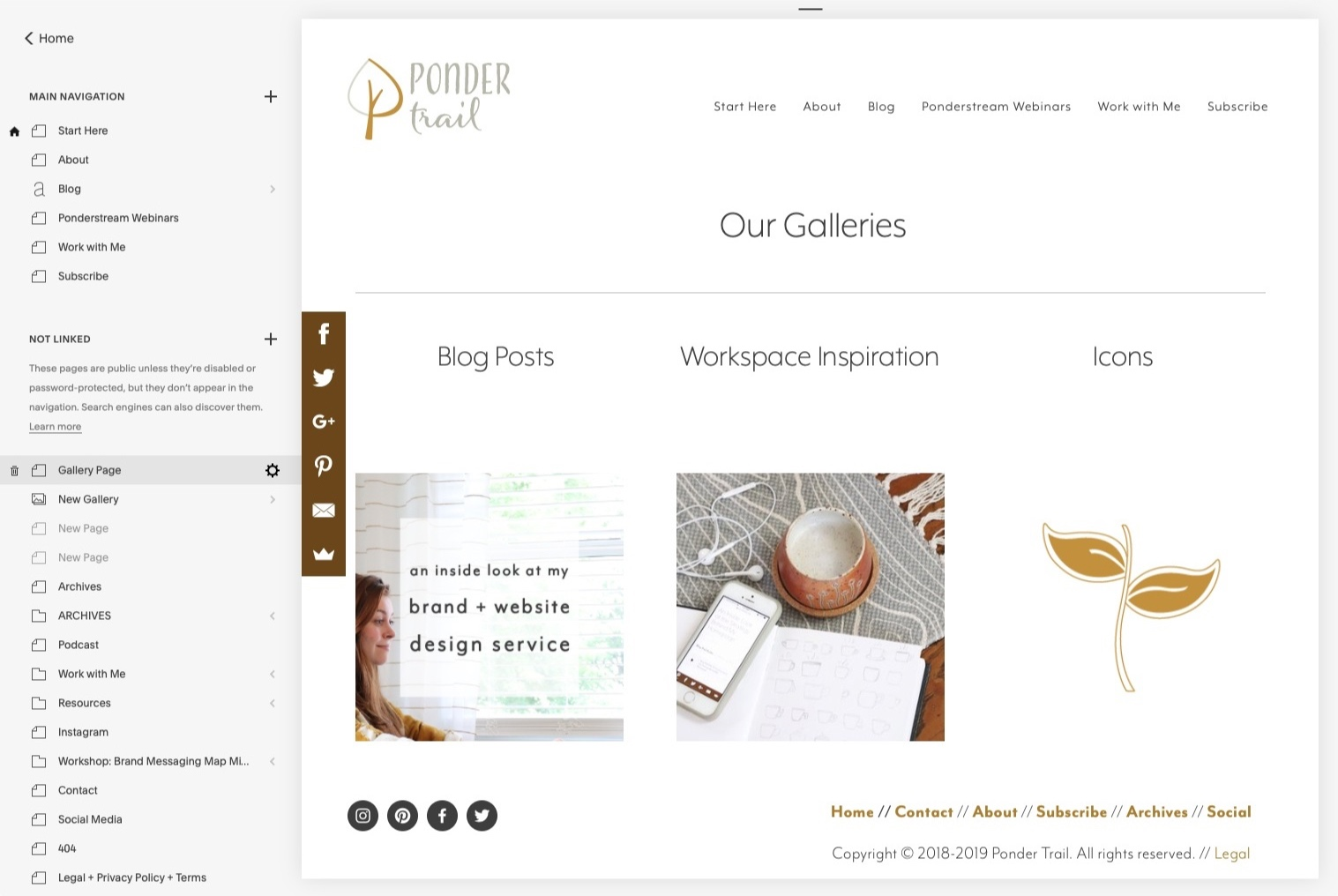 ponder trail Squarespace tips