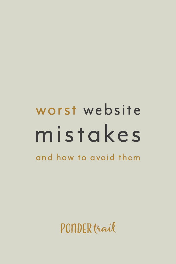 Worst Website Mistakes and How to Avoid Them
