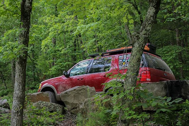 trying to hide from the scary toyota overlanders who don't wave back at me on the trail • • • • • #exploretheozarks #explorearkansas #hiking #outdoors #hike #overlanding #arkansas #overland #poncaarkansas #camping #mountain #overlander #ozarks #backpacking #getoutside #overlanding #wilderness #hikingadventures #naturalstate #optoutside #rooftoptent #trekking #outdoor #forest #glamping #wonderfularkansas #expedition #adventuremobile #4wd #frdpro