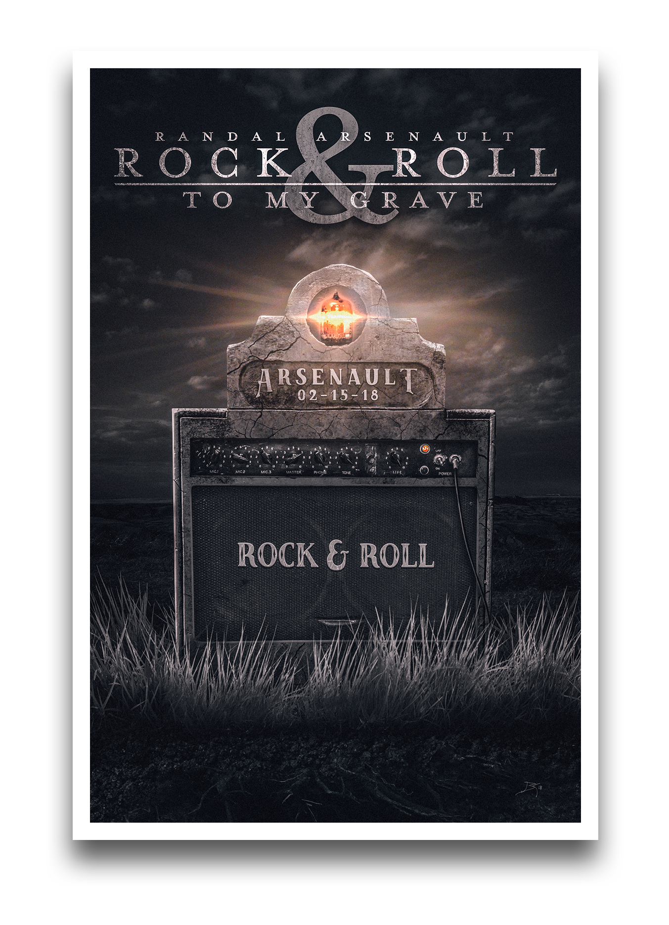 Rock & Roll to My Grave Poster - Be a Cancer Fighter - proceeds go to Canadian Cancer Society