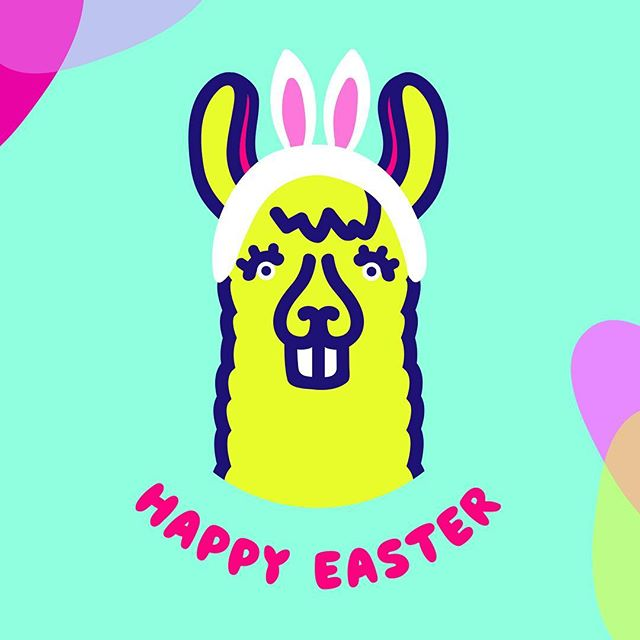 Llama EGGstend you some Happy Easter wishes. 🐰🌷#easterllama #dramallama