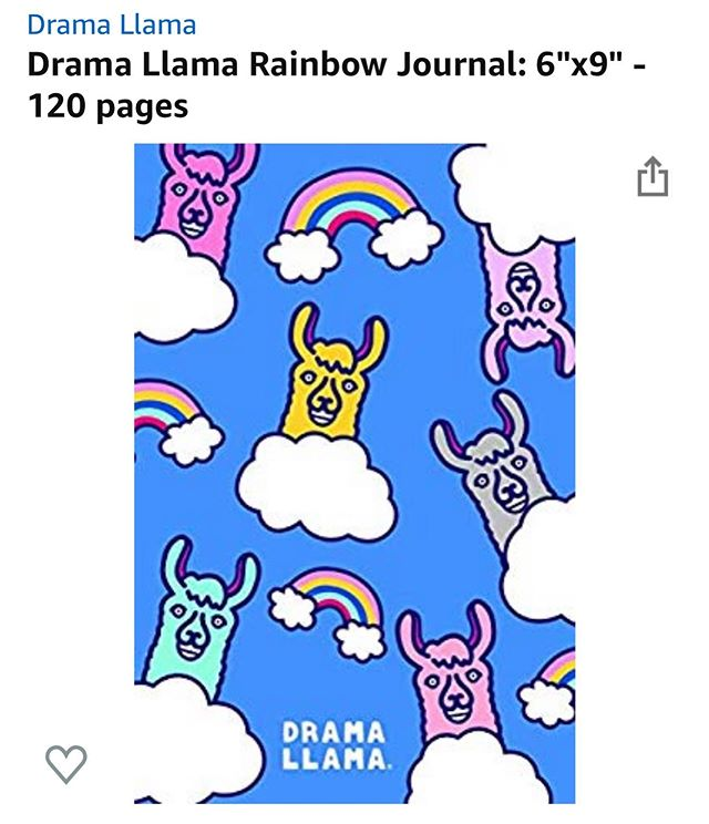 Drama Llama's first published book (journal) on Amazon. 😆 #rainbow #llama #dramallama