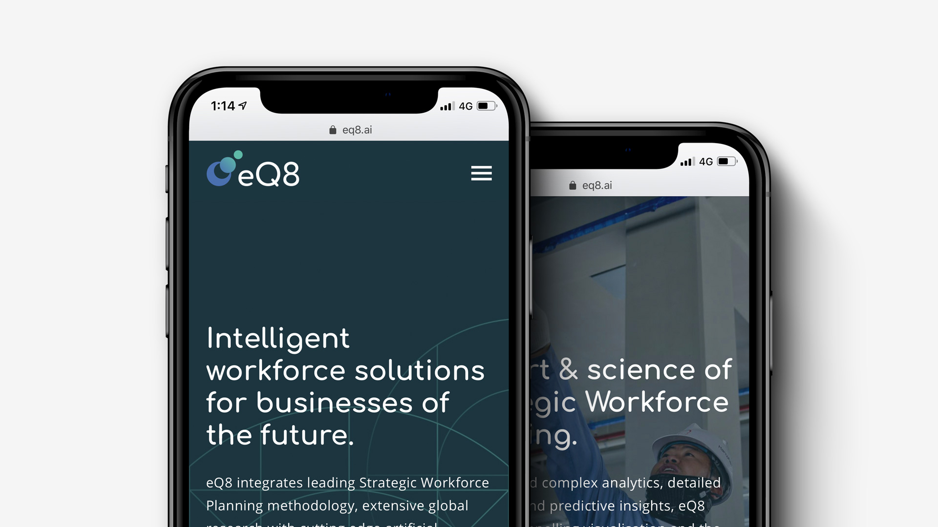 eQ8 by Quantitative HR  Naming | Brand Strategy | Brand Identity | Web Design & Development