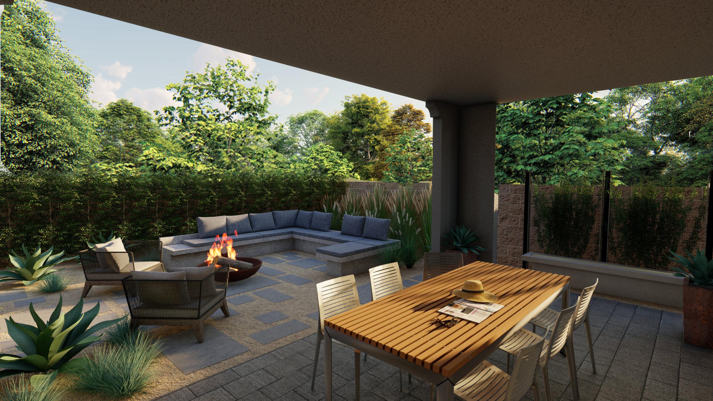 Irvine Residence - Half Property PlanIrvine, CA