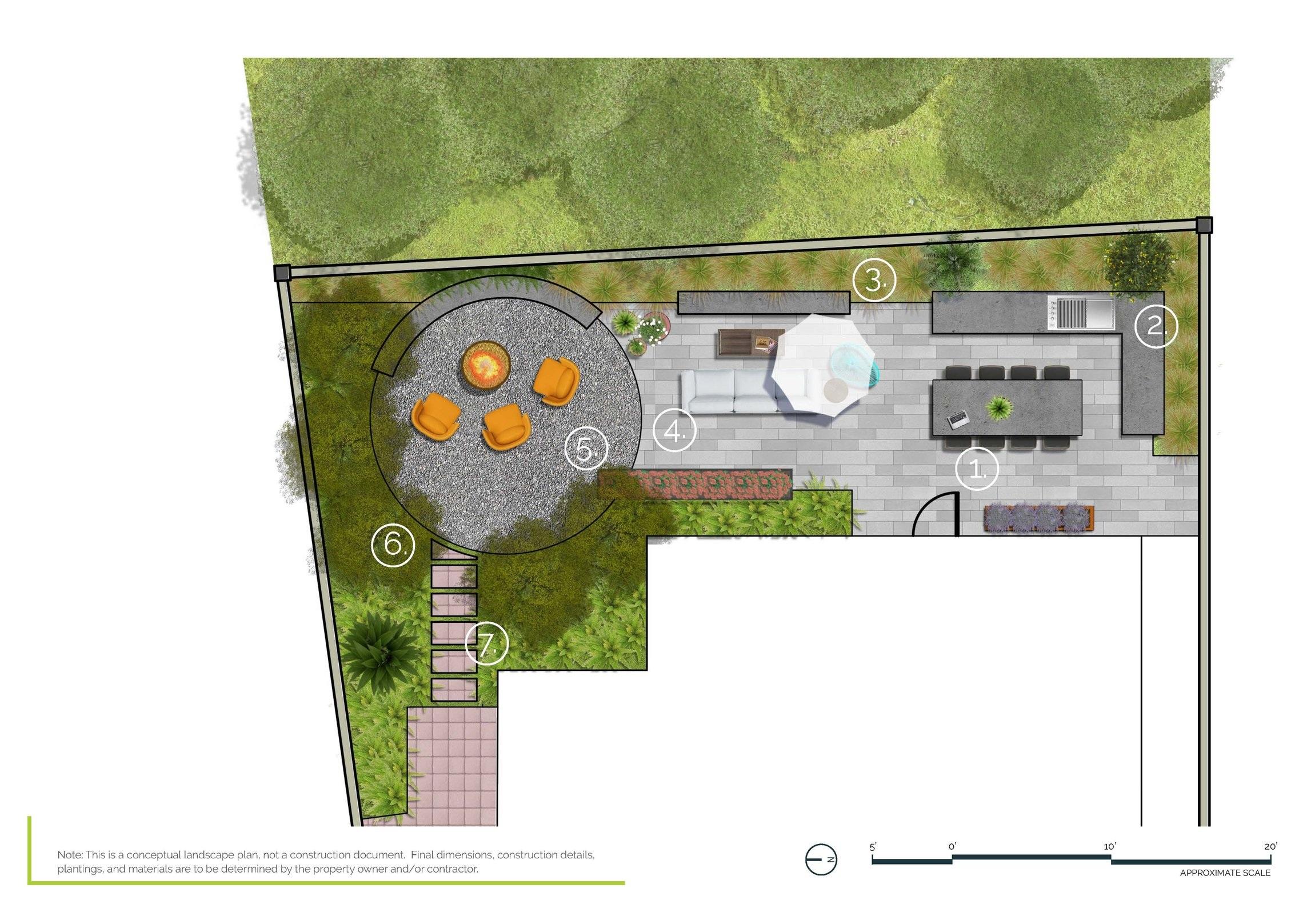 Mission Viejo Residence - Half Property PlanMission Viejo, CA