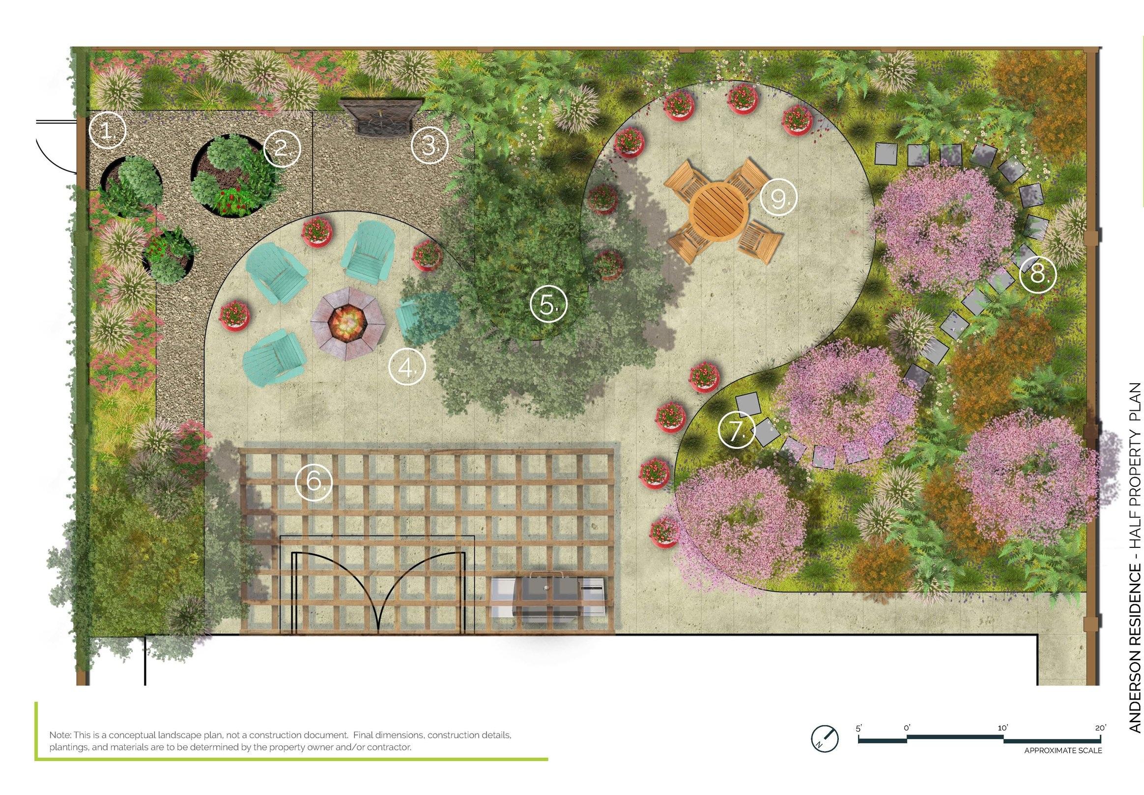 Backyard Refresh - Half Property PlanModesto, CA