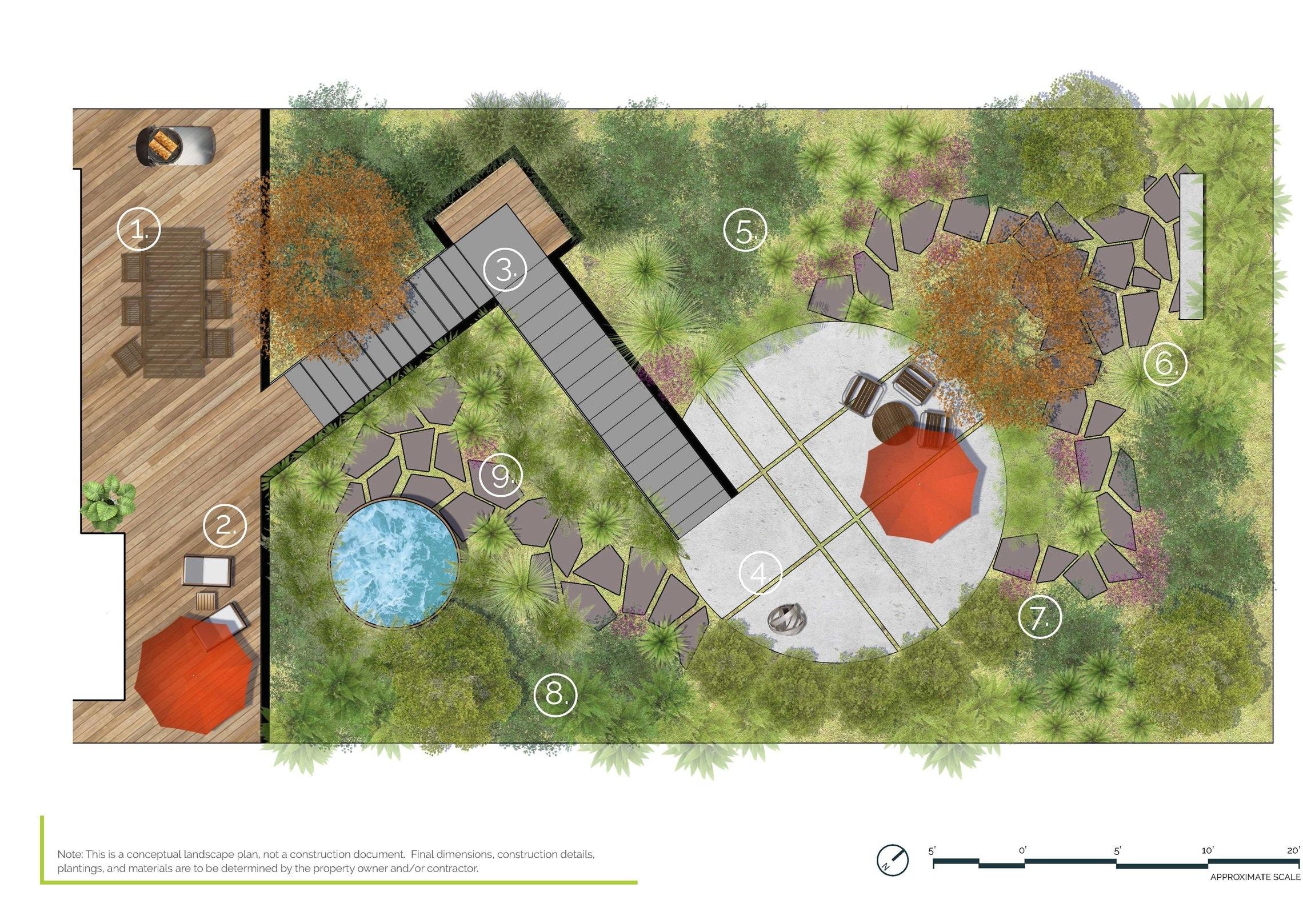 Hillside Garden - Half Property PlanSalt Lake City, UT
