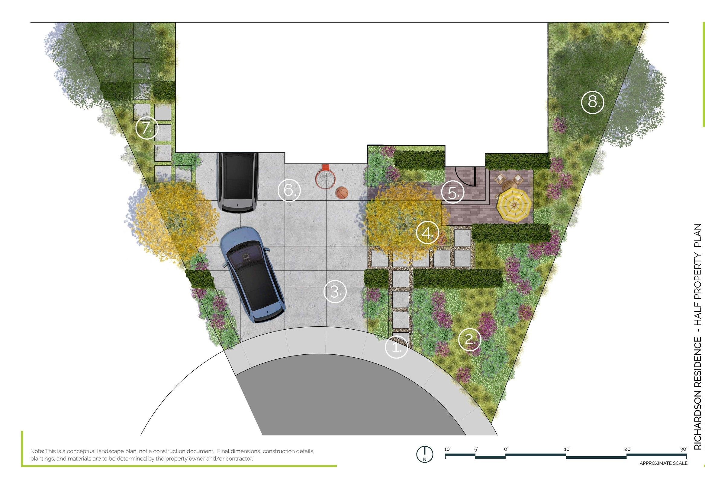 Texas Entry Garden - Half Property PlanDallas, TX