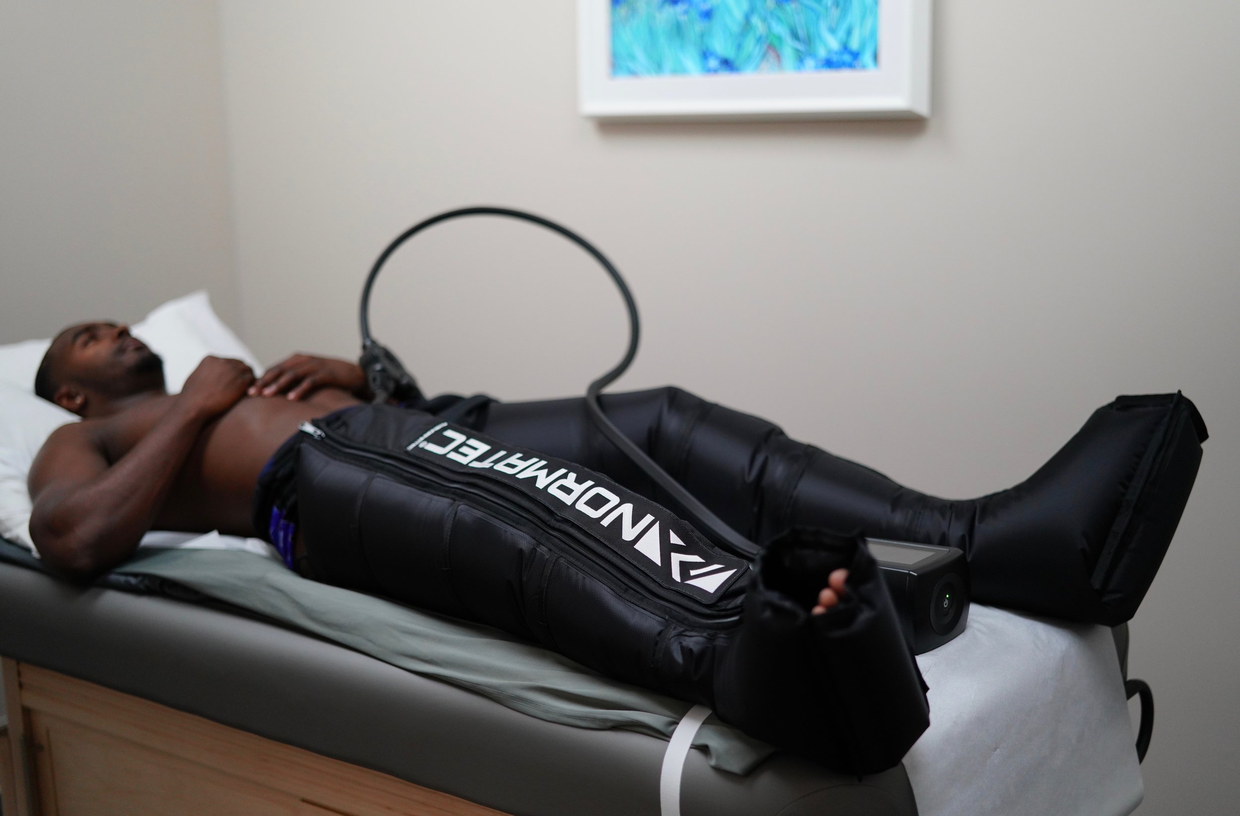 JaCorey Shepherd (#36 DB Philadelphia Eagles) & Normatec