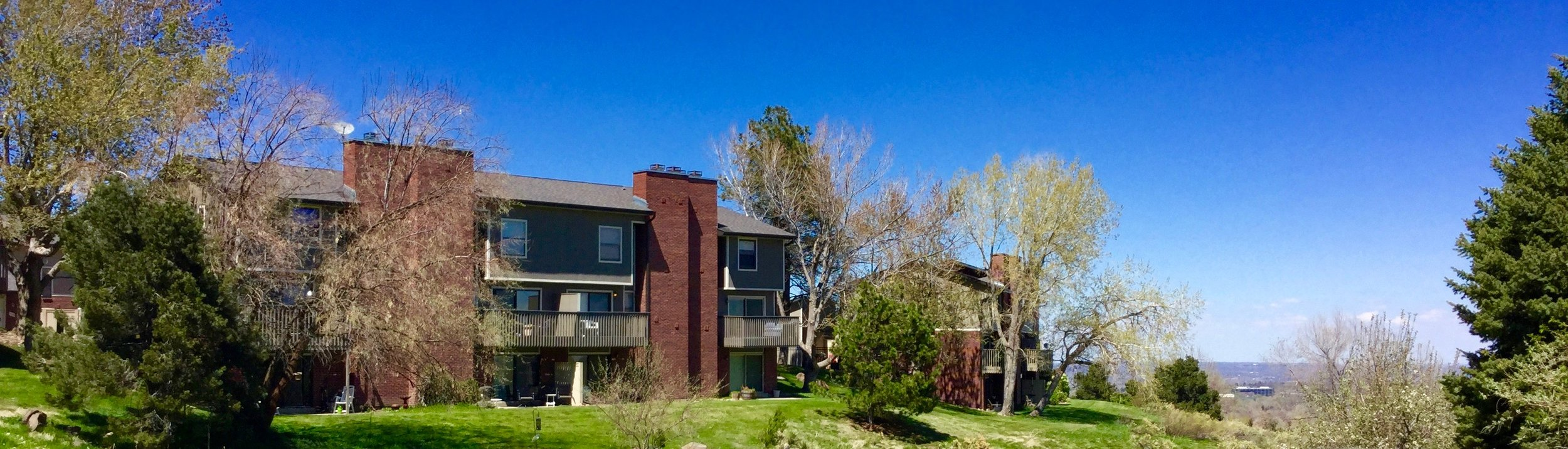 Amberwick Townhomes have great views of Downtown Denver