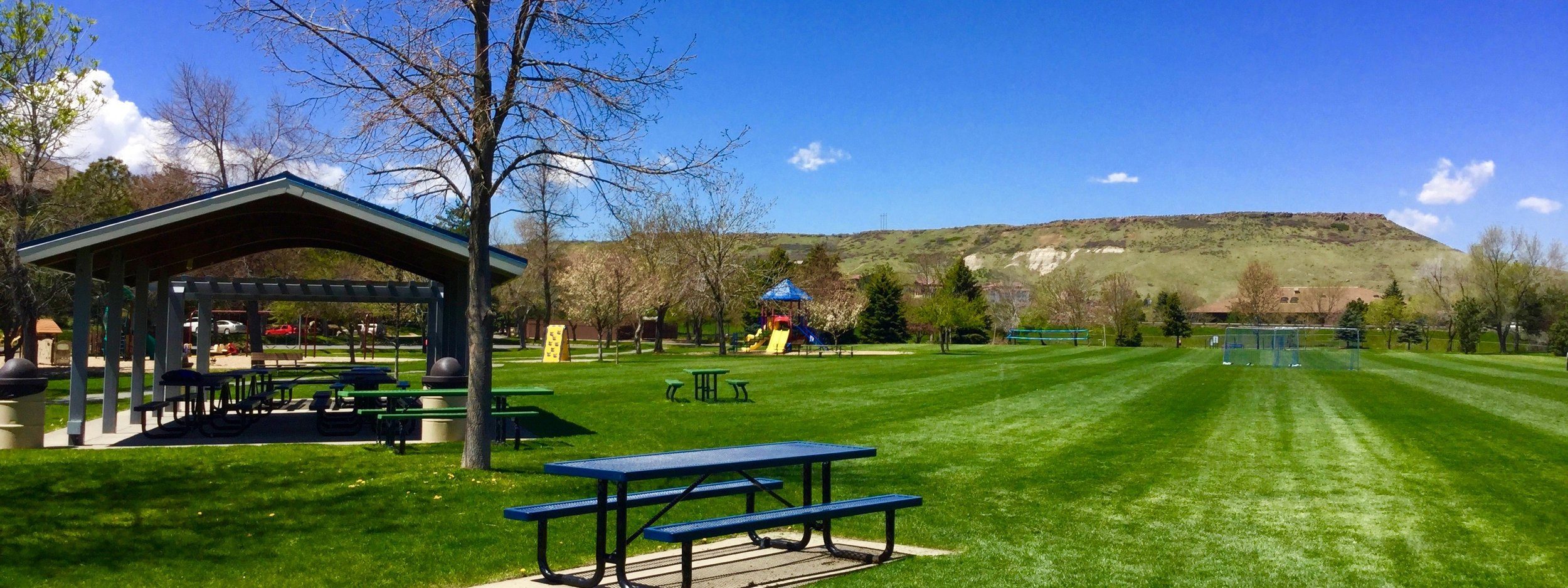 Enjoy the day at Applewood Park. Tennis, swimming, soccer fields and picnic areas