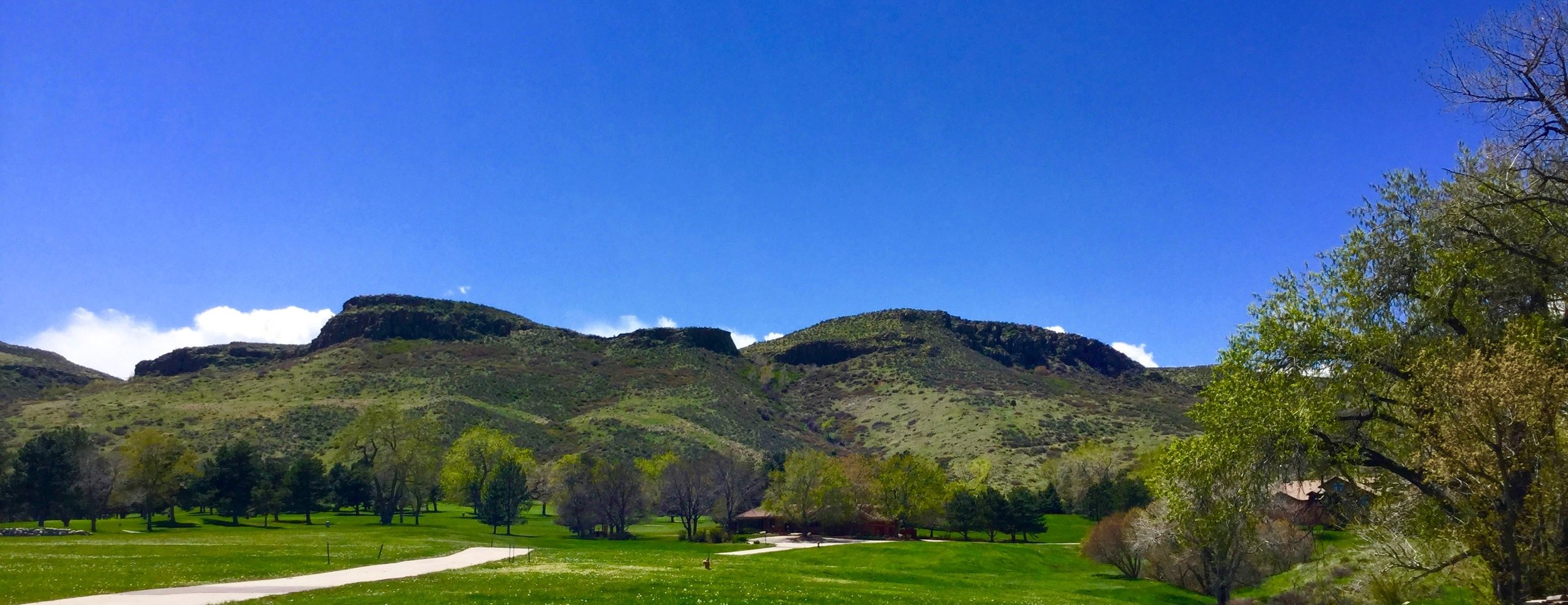 The East side of South Table Mountain in Golden, Colorado