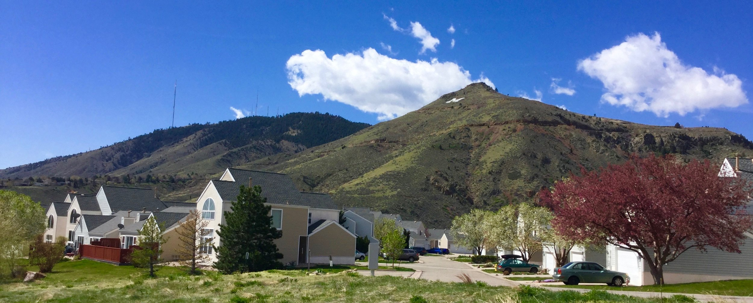Golden Foothill Views surround the Canyon Point Villas community in Golden, Colorado