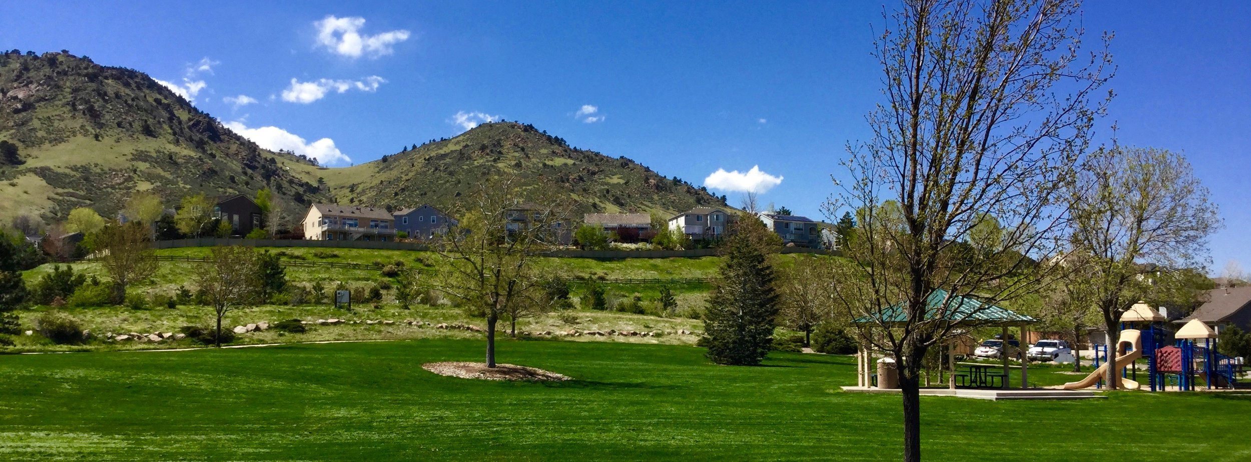 The New Loveland Mine Park is just footsteps to the west of Canyon View Court Townhomes in Golden, Colorado.