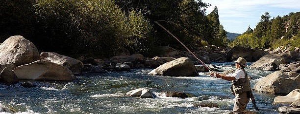 Head west to picturesque Clear Creek Canyon on US 6 for some world-class fly fishing in Golden, Colorado
